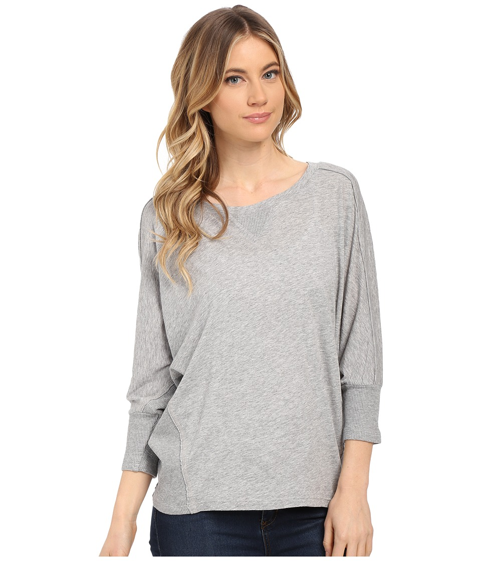 Splendid Very Light Jersey with Thermal Dolman (Heather Grey) Women