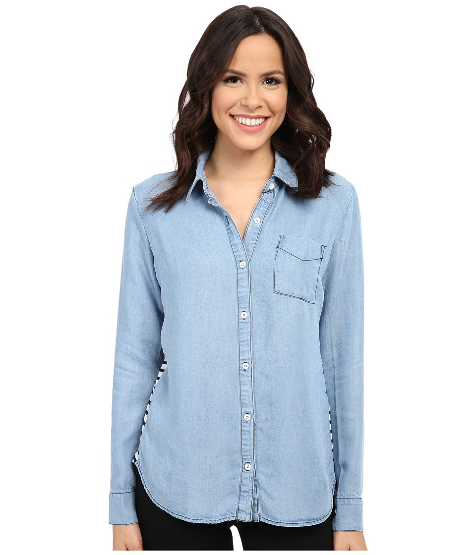 Splendid - Cielo Indigo Shirt (Light Wash) Women's Long Sleeve Button Up