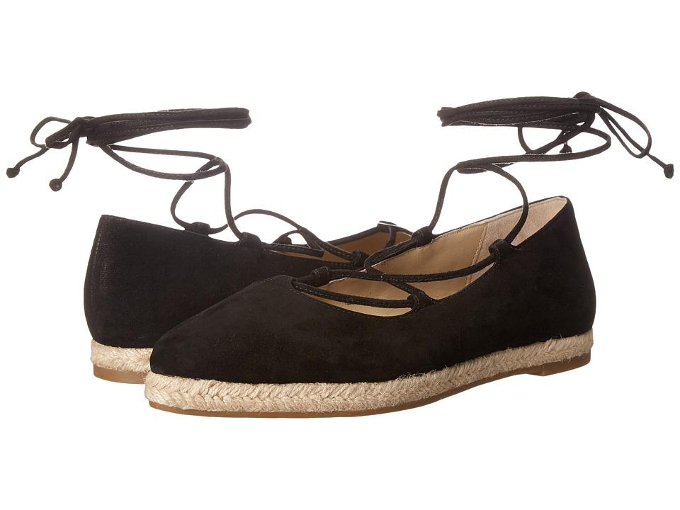 Michael Kors - Cadence (Black Kid Suede/Jute) Women's Flat Shoes