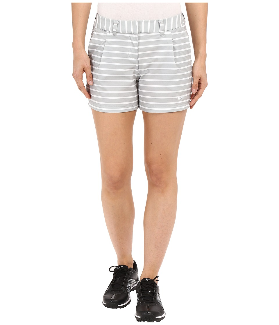 Nike Golf - Shorty Shorts Print (Wolf Grey/White/White) Women's Shorts