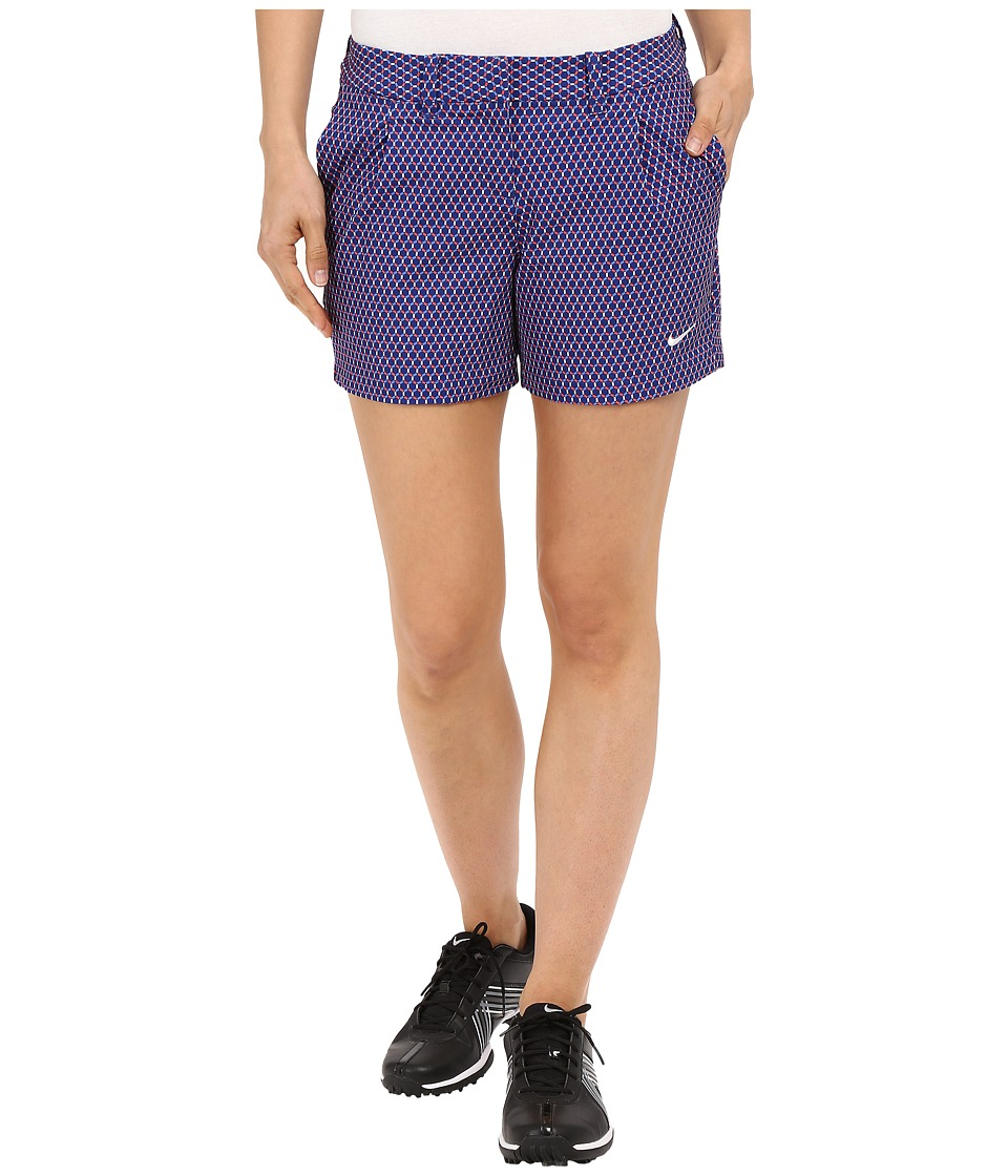Nike Golf - Shorty Shorts Print (Deep Royal Blue/White) Women's Shorts