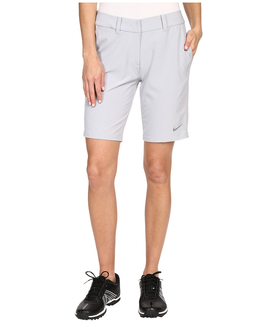 Nike Golf - Bermuda Shorts Solid (Wolf Grey/Metallic Silver) Women's Shorts plus size,  plus size fashion plus size appare
