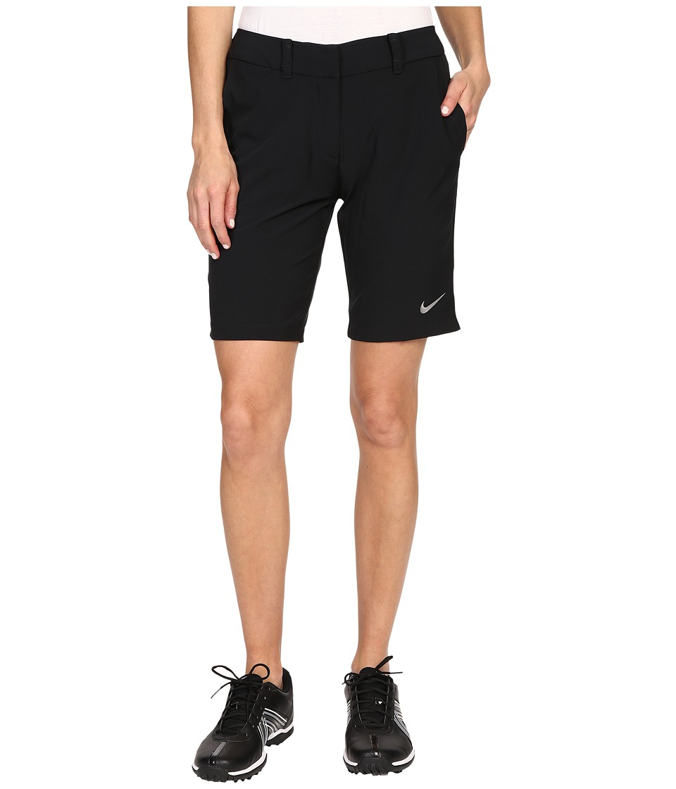 Nike Golf - Bermuda Shorts Solid (Black/Metallic Silver) Women's Shorts