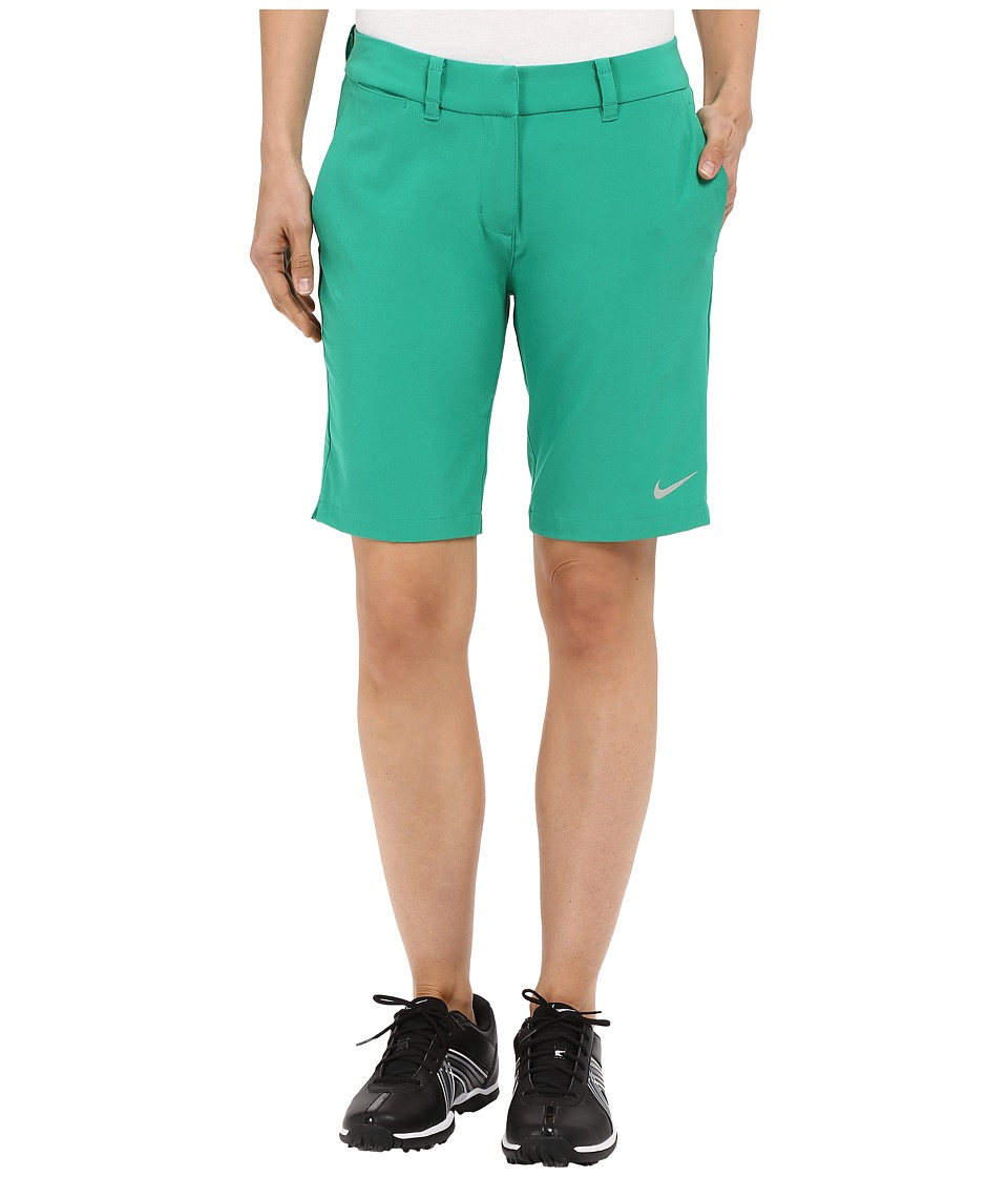 Nike Golf - Bermuda Shorts Solid (Lucid Green/Metallic Silver) Women's Shorts plus size,  plus size fashion plus size appare