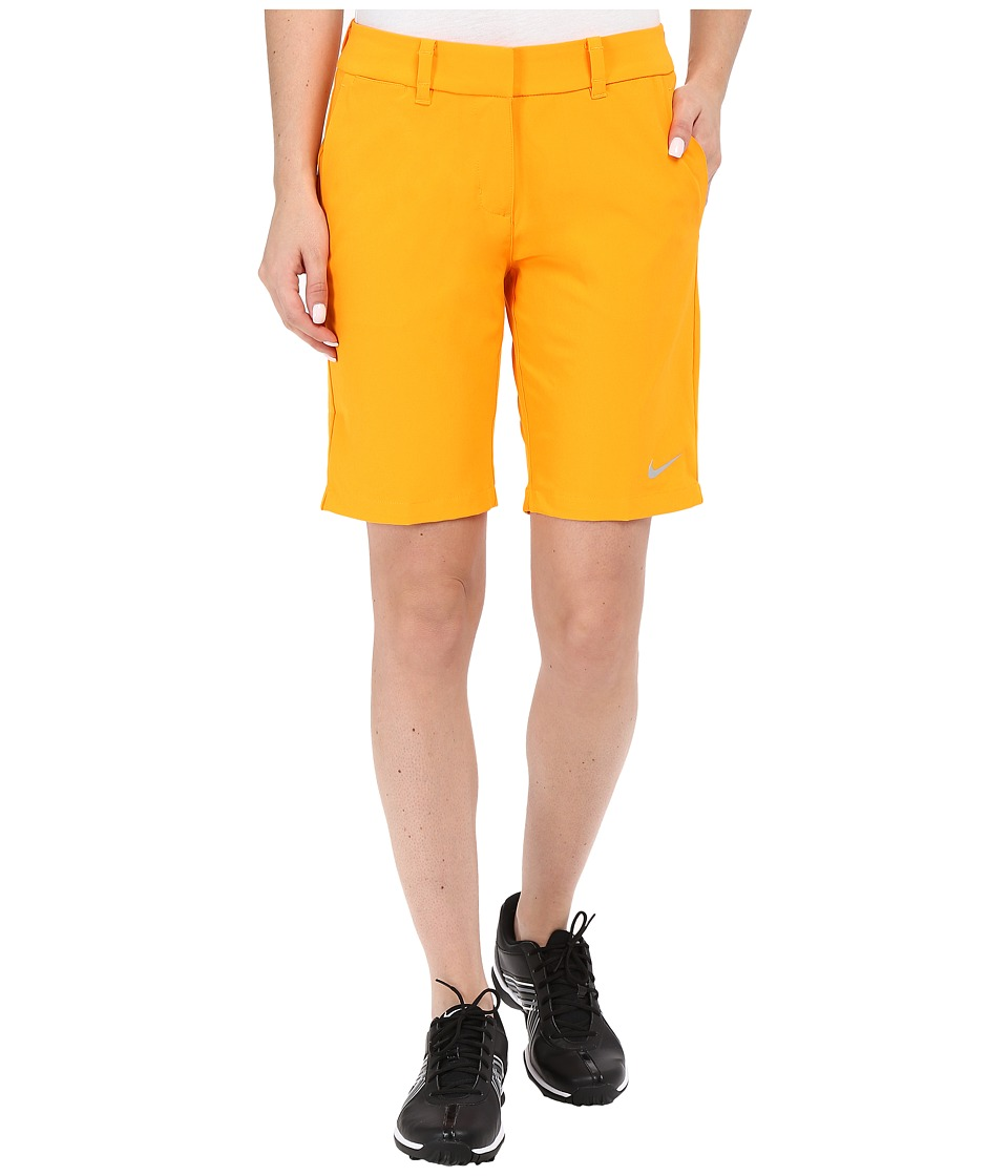Nike Golf - Bermuda Shorts Solid (Vivid Orange/Metallic Silver) Women's Shorts plus size,  plus size fashion plus size appare