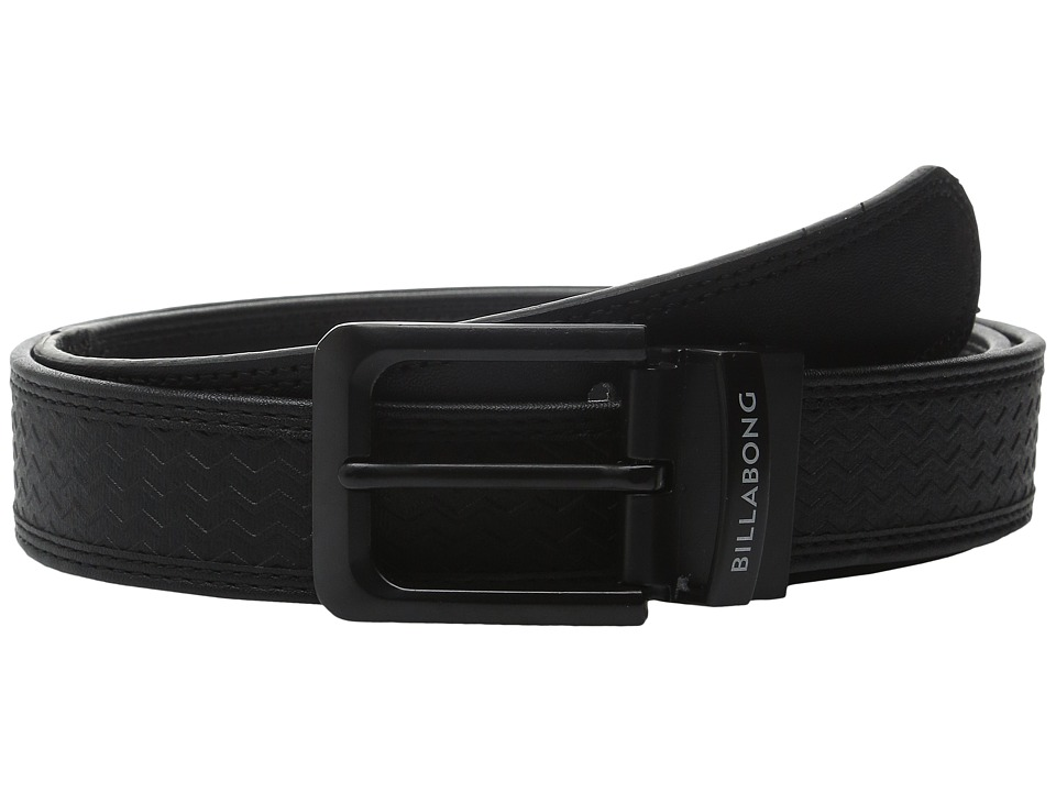 Billabong - Split Reversible Belt (Black) Men's Belts