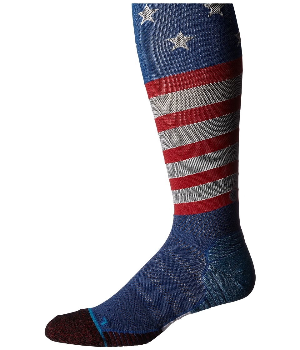 Stance - Slanty Otc (Blue) Men's Knee High Socks Shoes