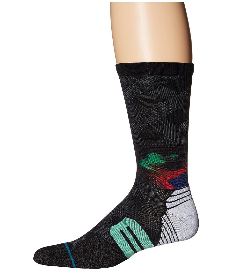 Stance - Wrapped (Black) Men's Crew Cut Socks Shoes
