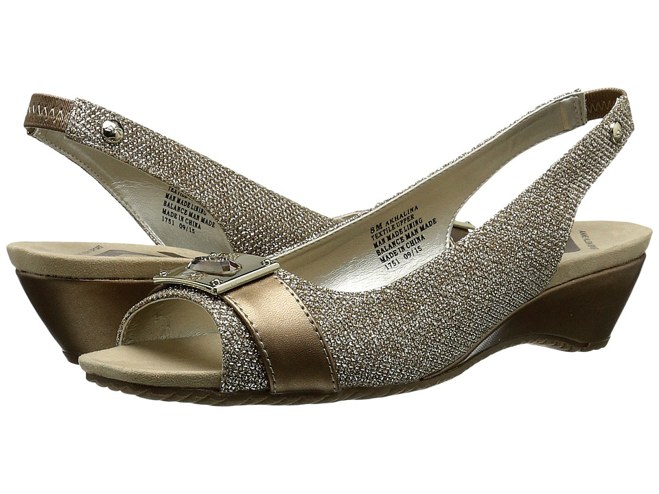 Anne Klein - Halina (Light Bronze/Bronze Fabric) Women's Shoes