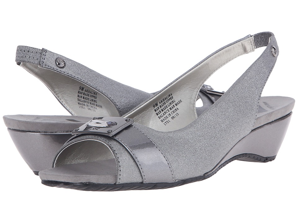 Anne Klein Halina (Pewter/Pewter Synthetic) Women