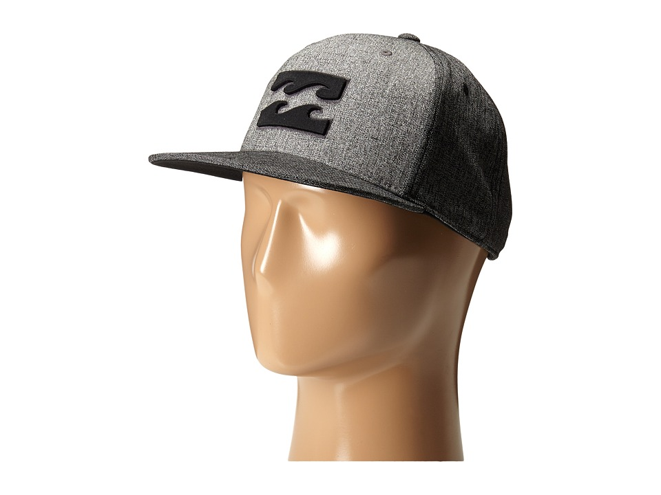 Billabong - All Day 110 Snapback Hat (Black Heather) Caps
