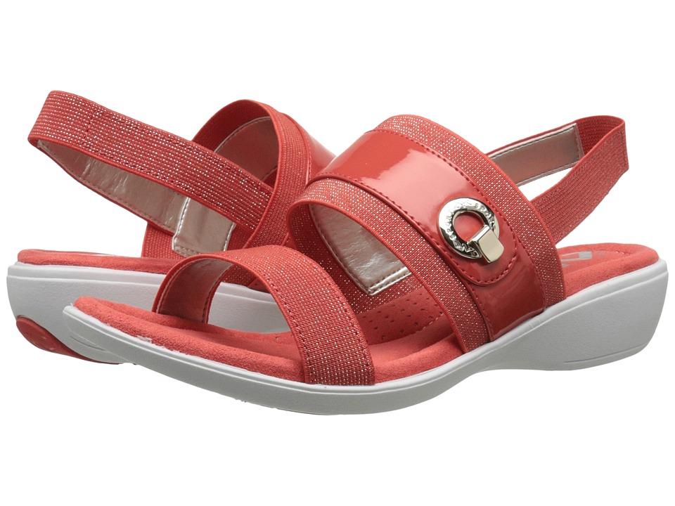 Anne Klein - Hida (Dark Orange Gold/Dark Orange Fabric) Women's Sandals