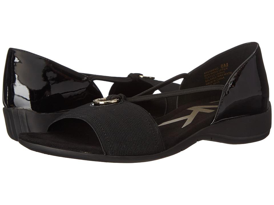 Anne Klein - Kameko (Black/Black Synthetic) Women's Sandals