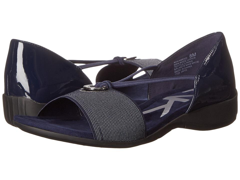 Anne Klein - Kameko (Navy/Navy/White Synthetic) Women's Sandals