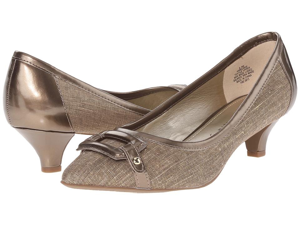 Anne Klein - Melanie (Dark Taupe/Taupe Fabric) Women's 1-2 inch heel Shoes