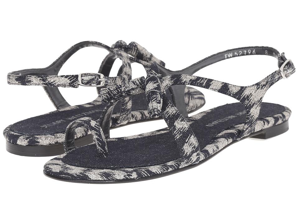 Stuart Weitzman - Flapper (Navy Galaxy Denim) Women's Flat Shoes