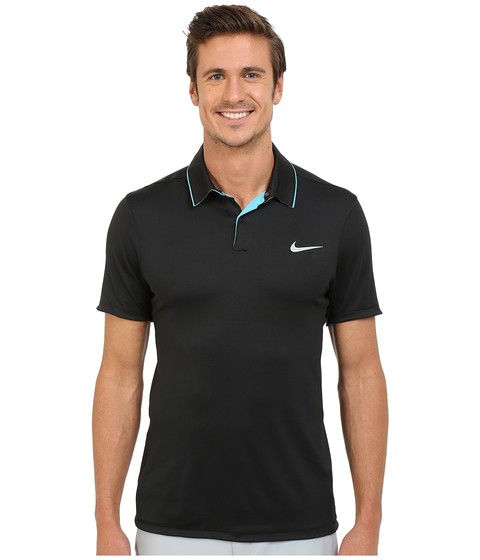 Nike Golf - Momentum Ultraviolet Reveal Polo (Black/Omega Blue/Black/Reflective Silver) Men's Short Sleeve Knit