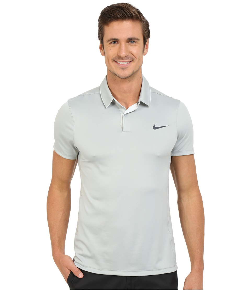 Nike Golf - Momentum Ultraviolet Reveal Polo (Wolf Grey/White/Wolf Grey/Reflective Silver) Men's Short Sleeve Knit