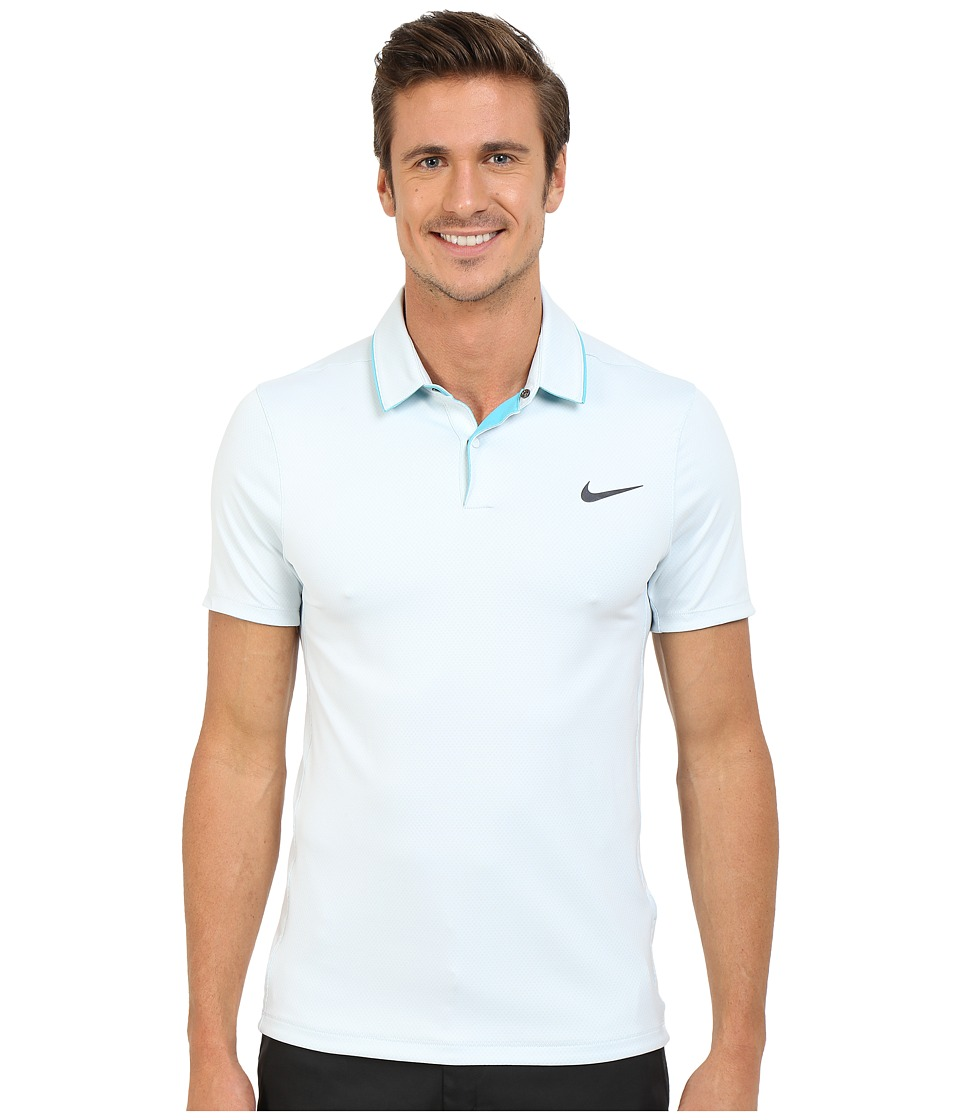 Nike Golf - Momentum Ultraviolet Reveal Polo (White/Omega Blue/White/Reflective Silver) Men's Short Sleeve Knit