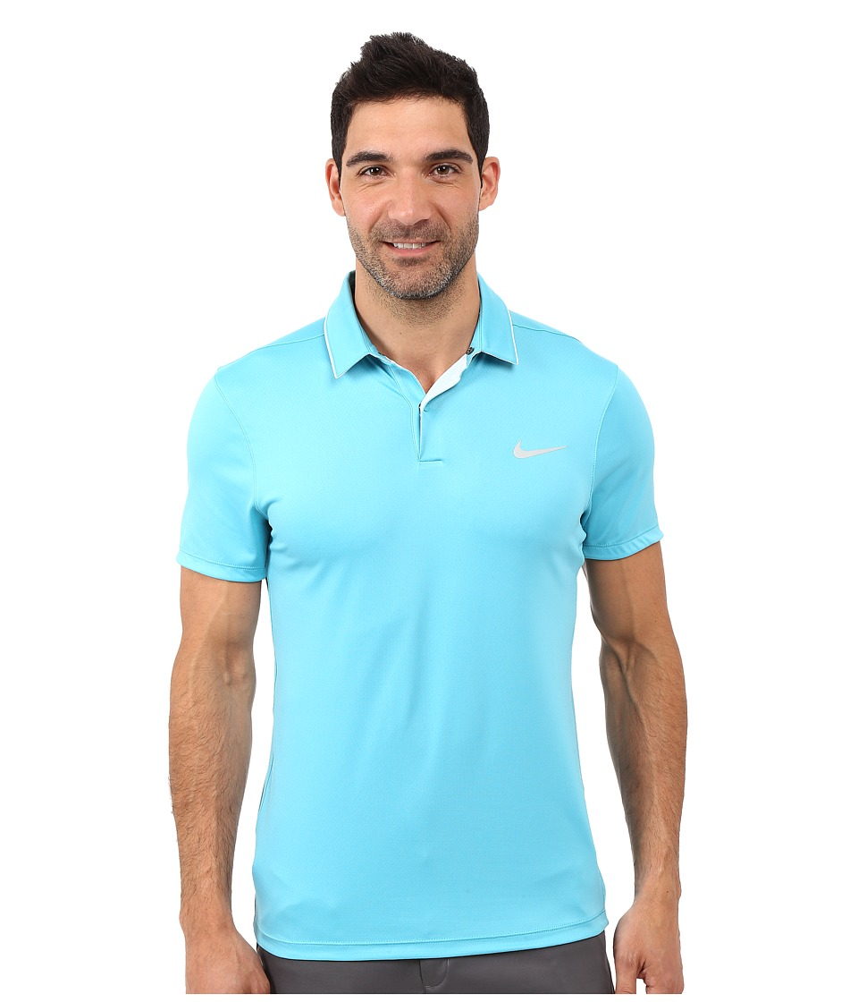 Nike Golf - Momentum Ultraviolet Reveal Polo (Photo Blue/Omega Blue/Midnight Navy/Reflective Silver) Men's Short Sleeve Knit