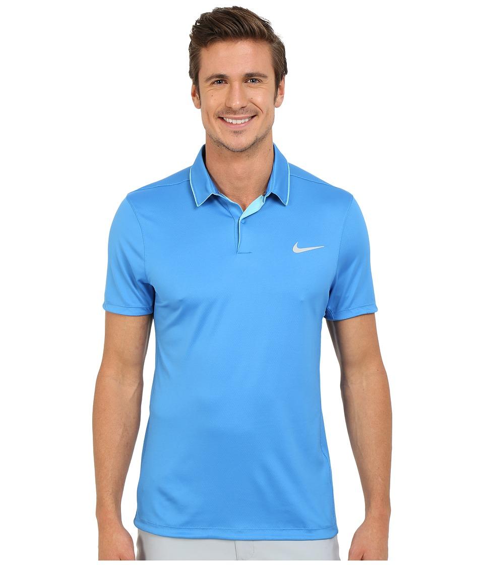 Nike Golf - Momentum Ultraviolet Reveal Polo (Omega Blue/White/Omega Blue/Reflective Silver) Men's Short Sleeve Knit