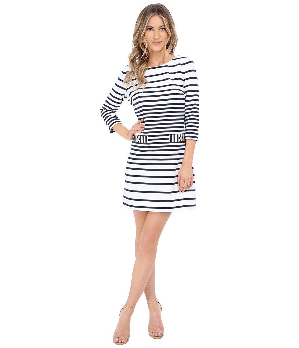 Lilly Pulitzer - Charlene Shift Dress (True Navy Engineered Stripe) Women's Dress