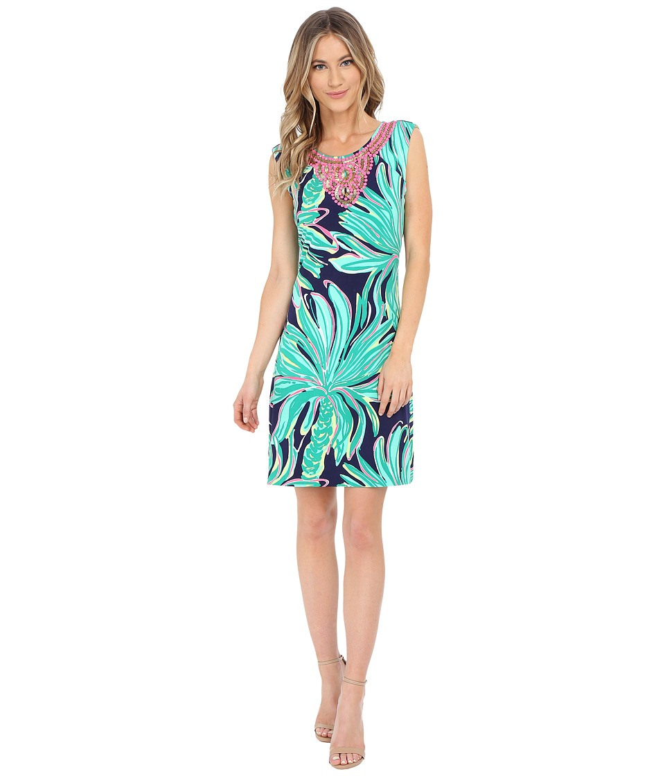 Lilly Pulitzer - Bristol Dress (Bright Navy Tiger Palm) Women's Dress