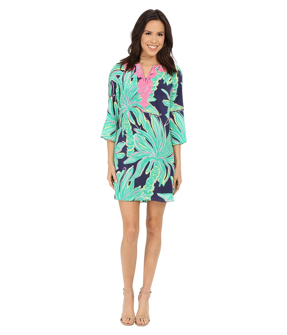 Lilly Pulitzer - Rylee Shift Dress (Bright Navy Tiger Palm) Women's Dress