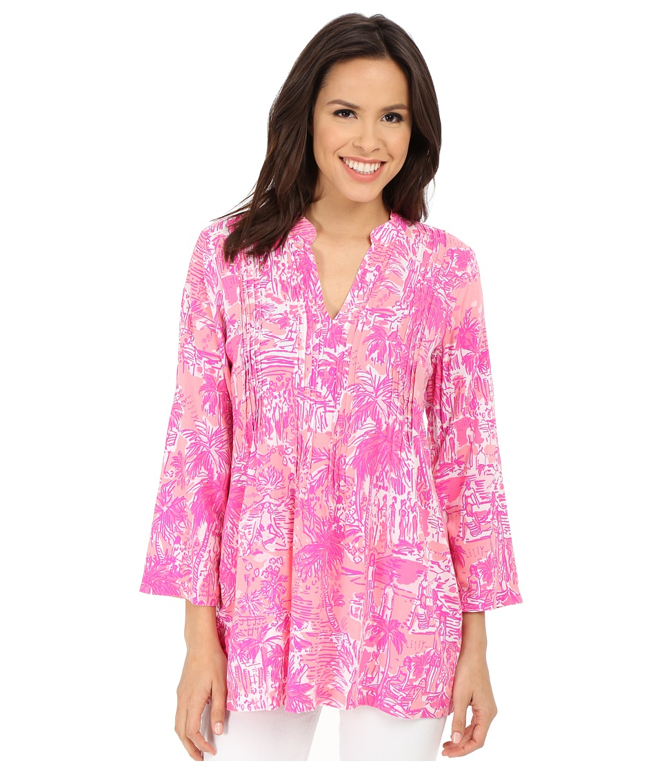 Lilly Pulitzer - Sarasota Tunic (Paradise Pink Rule Breakers) Women's Blouse