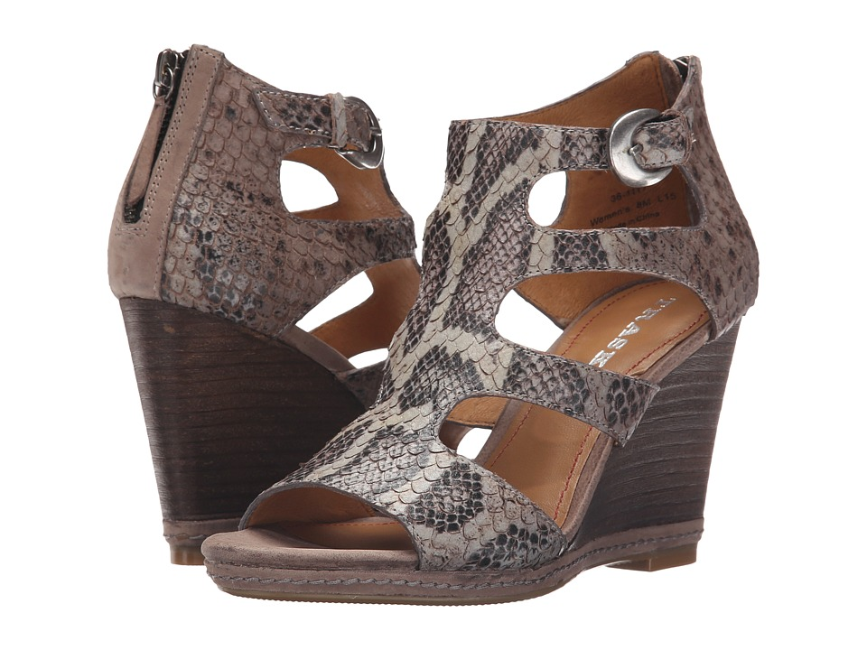 Trask - Hara (Charcoal Italian Snake Print Calfskin/Charcoal Italian Suede) High Heels