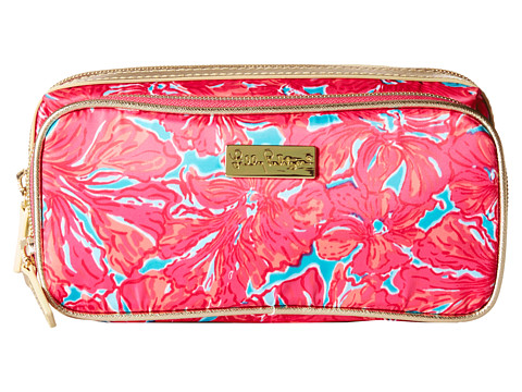 Lilly Pulitzer - Make It Cosmetic Case (Sea Blue Flirty) Cosmetic Case