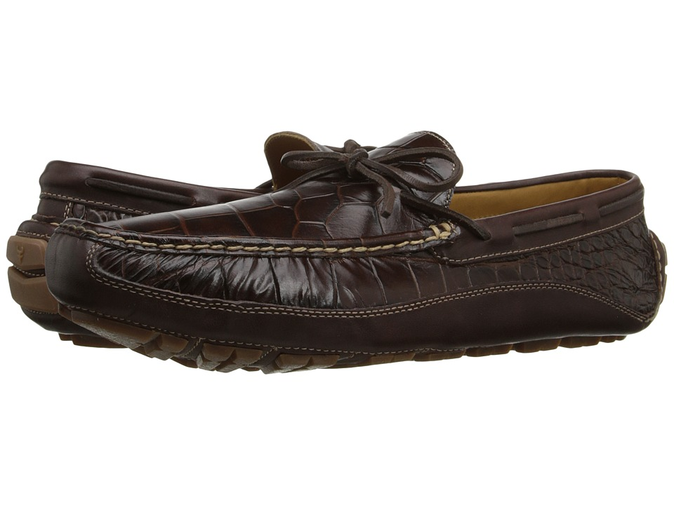 Trask Drake (Dark Brown Italian Croc Print Steer) Men