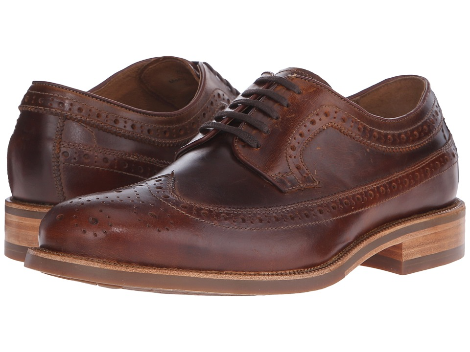 Trask - Fiske (Brown Full Grain American Steer) Men's Lace Up Wing Tip Shoes