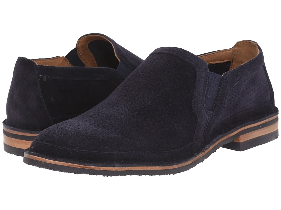 Trask - Blaine Perf (Navy African Kudu Suede) Men's Slip on Shoes