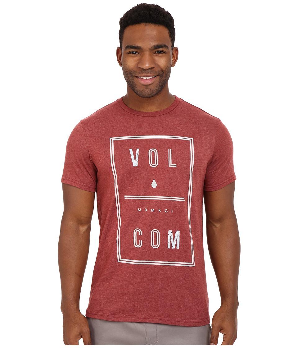 Volcom - Saturday Tee (Port Heather) Men's Short Sleeve Pullover