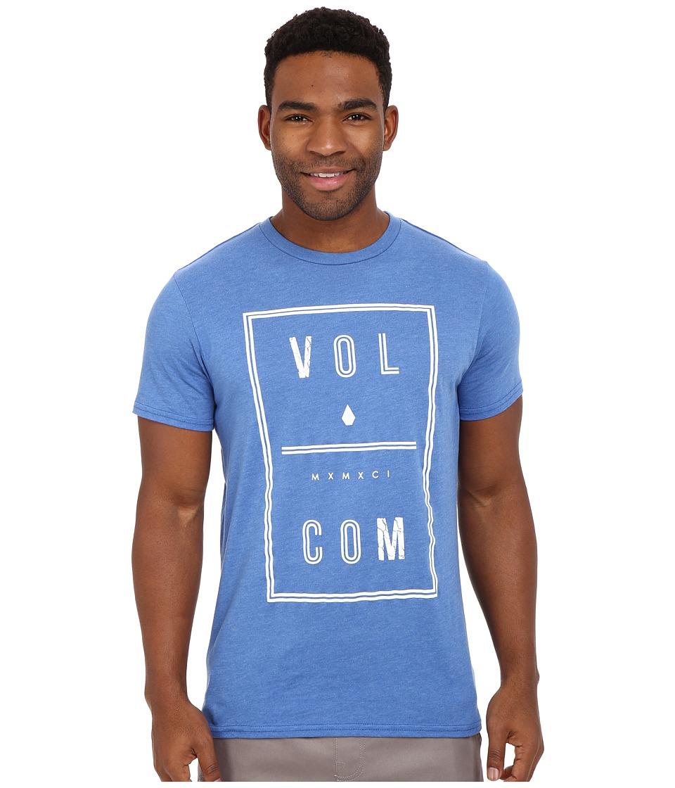 Volcom - Saturday Tee (Estate Blue Heather) Men's Short Sleeve Pullover