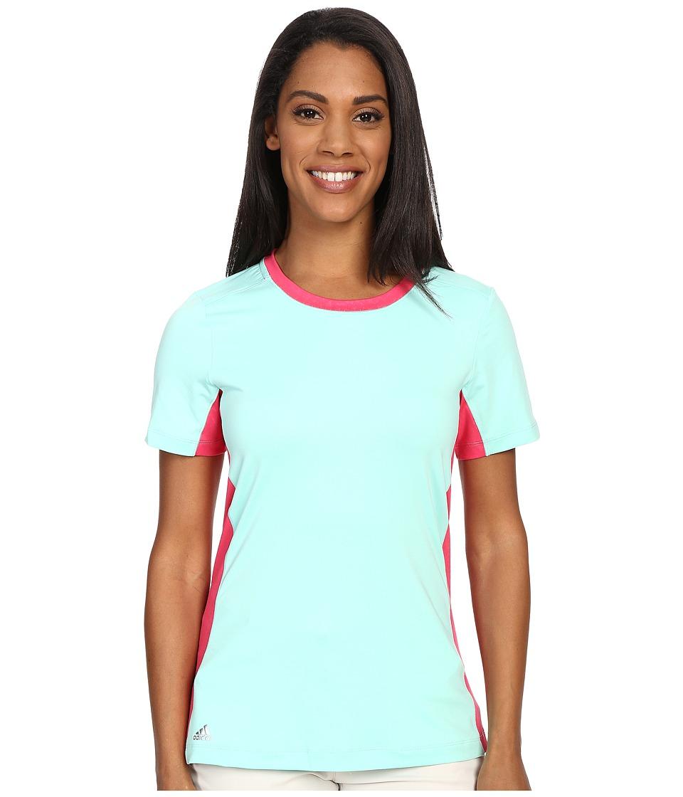 adidas Golf - adiStar Rangewear Crew (Mint Burst) Women's Short Sleeve Pullover