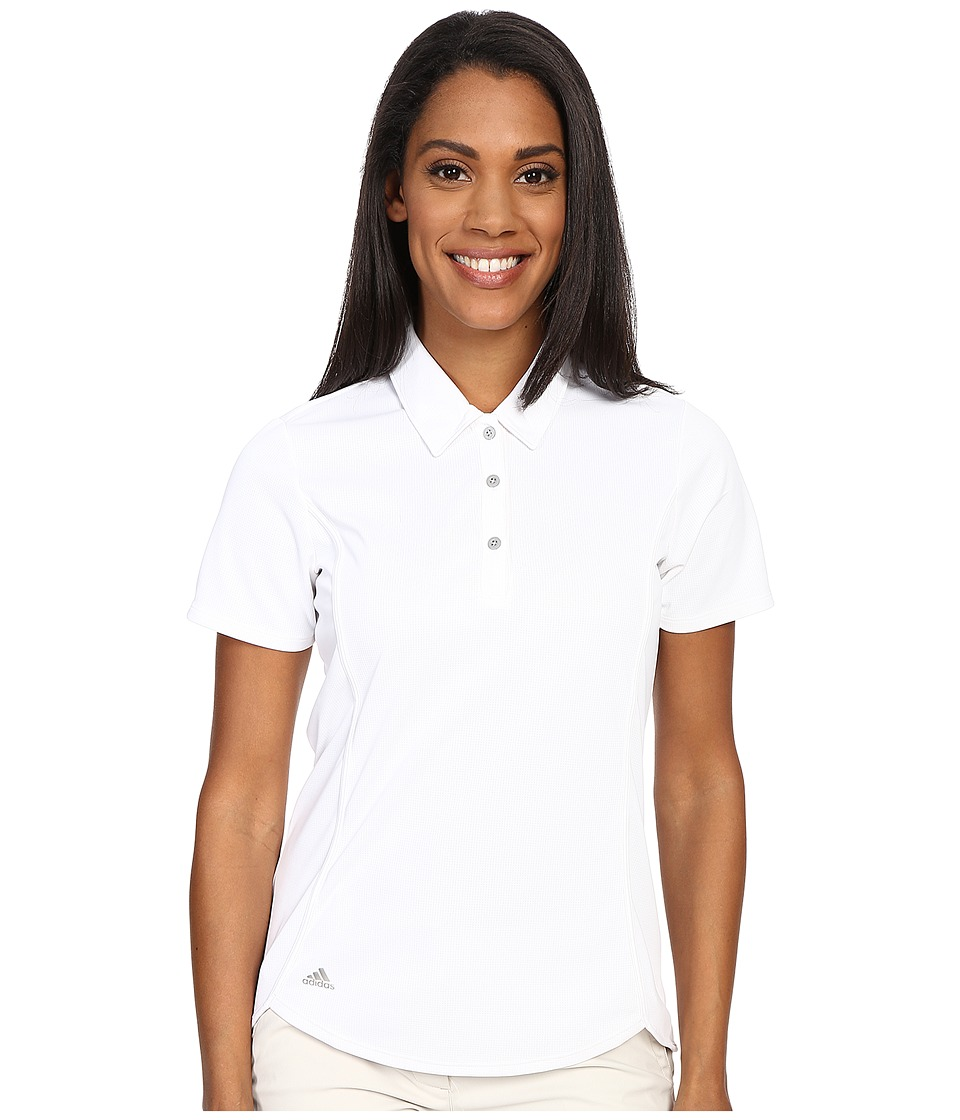 adidas Golf - Essentials climachill Sport Polo (White/White) Women's Short Sleeve Pullover