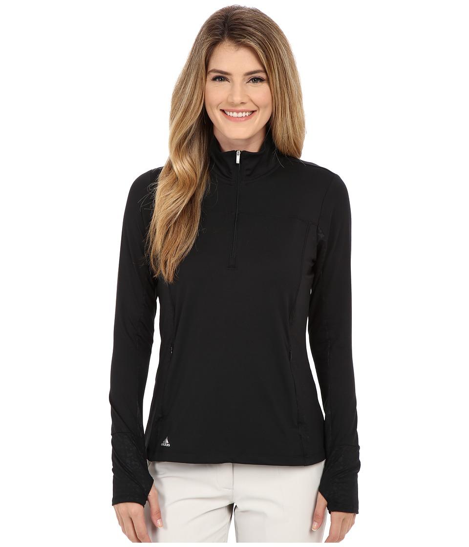 adidas Golf - Essentials Rangwear Half Zip (Black) Women's Long Sleeve Pullover