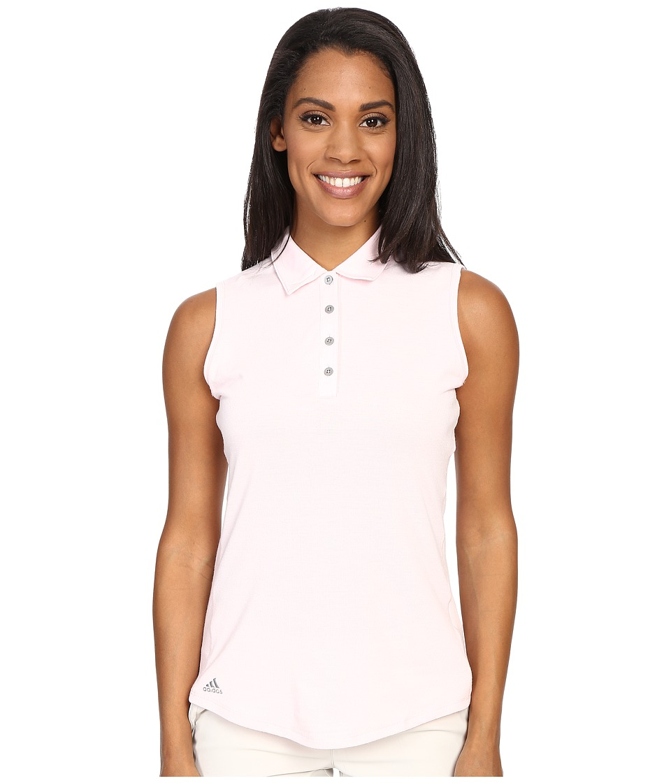 adidas Golf - Essentials Heather Sleeveless Polo (Blushing Pink) Women's Sleeveless