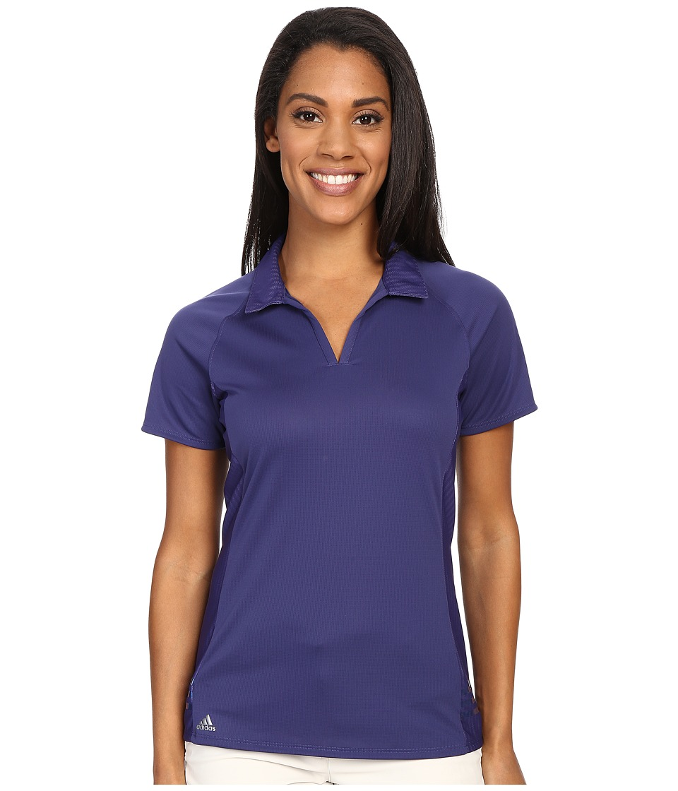 adidas Golf - Tour Climachill 3-Stripes Polo (Deep Blue) Women's Short Sleeve Pullover
