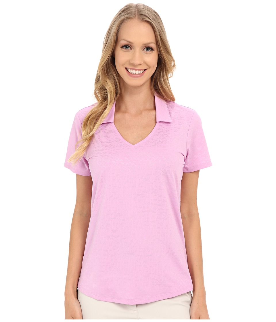 adidas Golf - Tour Climacool Textured Polo (Wild Orchid) Women's Short Sleeve Pullover