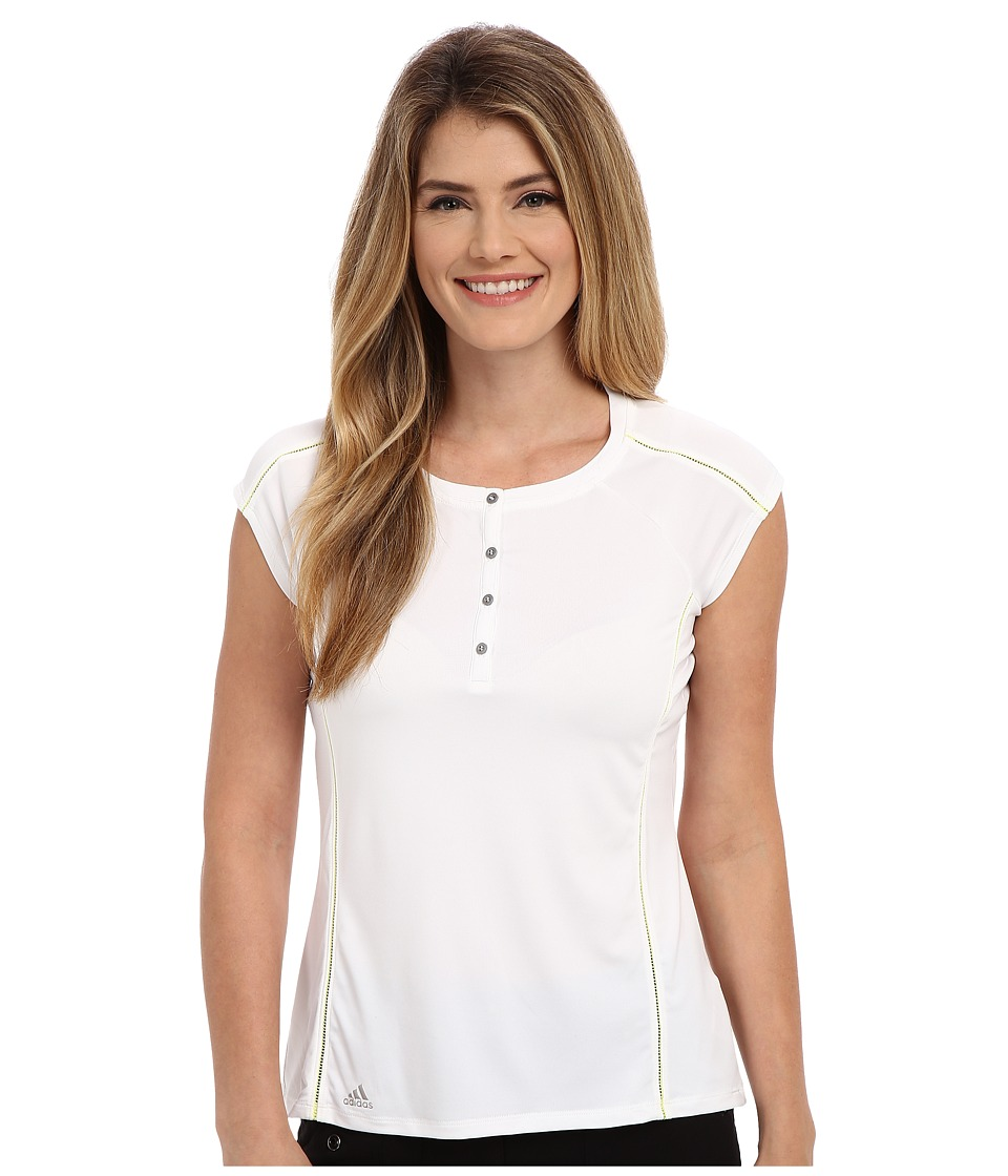 adidas Golf - Tour Crew Venting Polo (White) Women's Short Sleeve Button Up