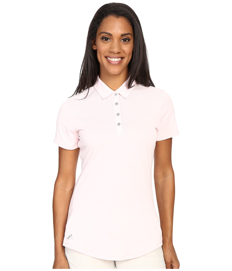 adidas Golf - Essentials Heather Short Sleeve Polo (Blushing Pink) Women's Short Sleeve Knit