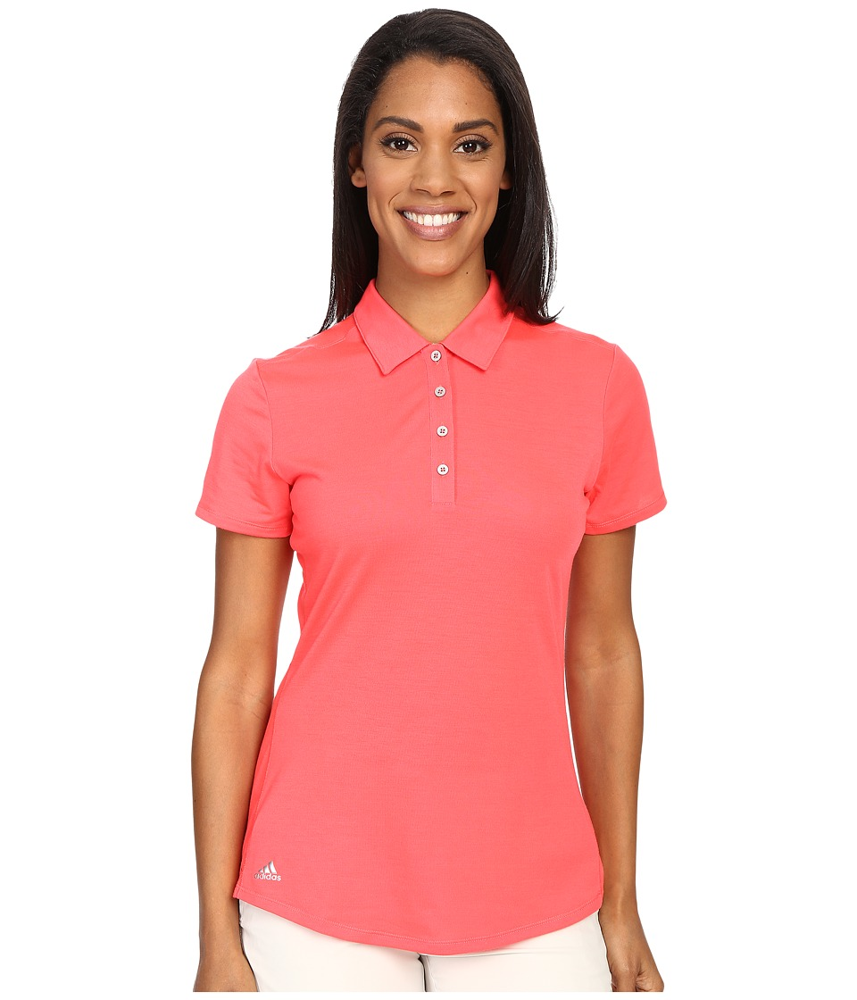 adidas Golf - Essentials Heather Short Sleeve Polo (Shock Red) Women's Short Sleeve Knit