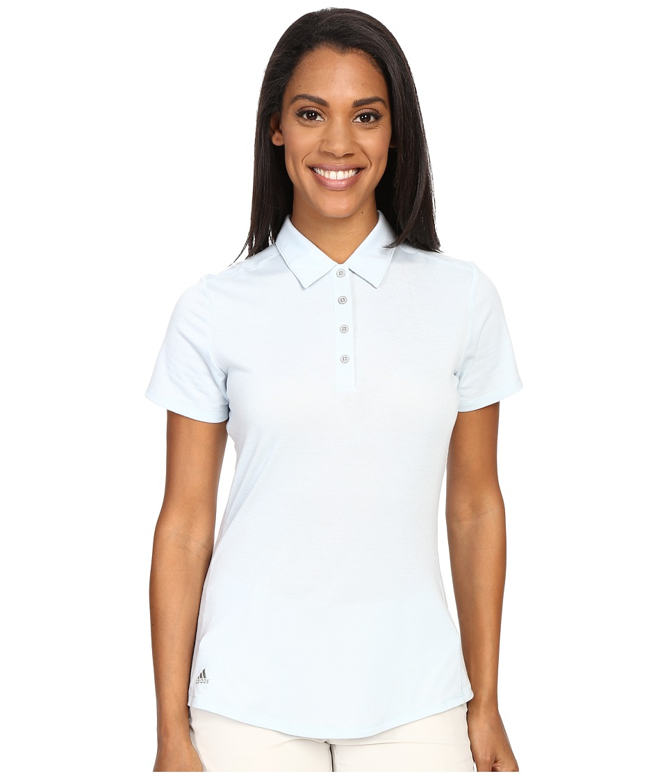 adidas Golf - Essentials Heather Short Sleeve Polo (Soft Blue) Women's Short Sleeve Knit