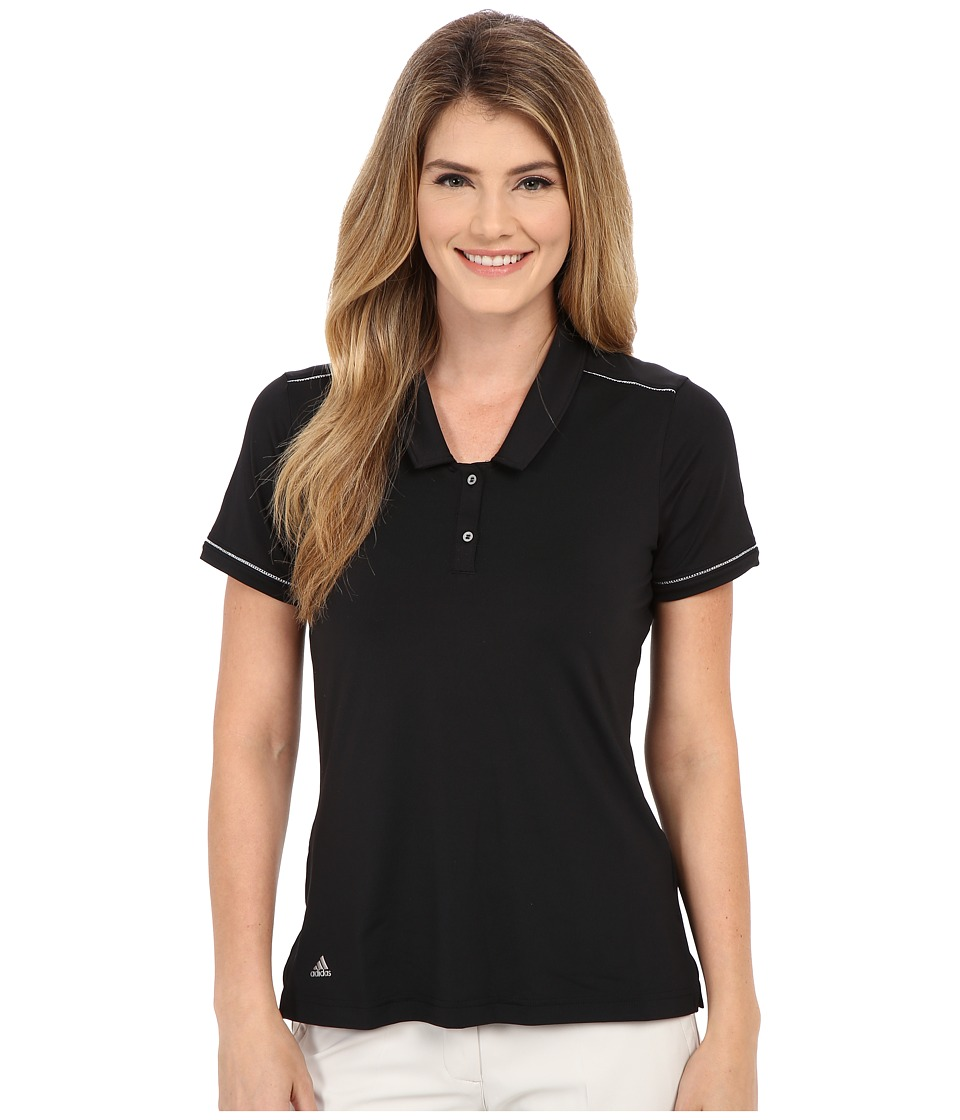 adidas Golf - Tour Venting Polo (Black) Women's Short Sleeve Knit