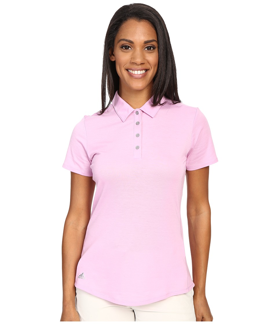 adidas Golf - Essentials Heather Short Sleeve Polo (Wild Orchid) Women's Short Sleeve Knit