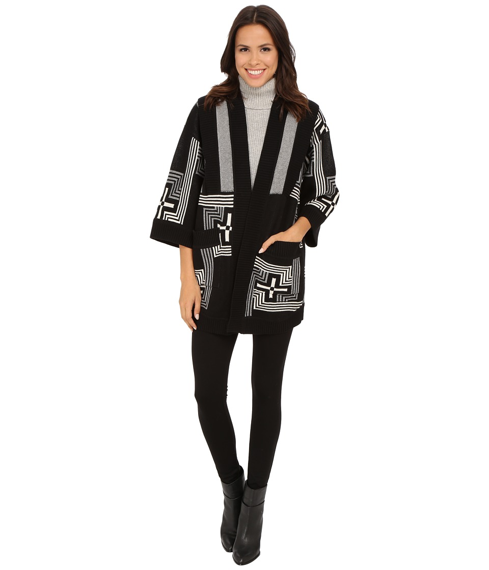Pendleton - Geo Cross Sweater Wrap (Black Multi) Women's Sweater