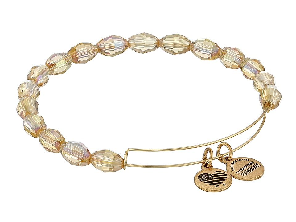 Alex and Ani - Retro Glam Serenity Expandable Bangle (Mellow Amber/Gold) Bracelet